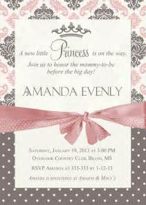 free princess baby shower invitation templates damask princess baby shower invitation by partypopinvites