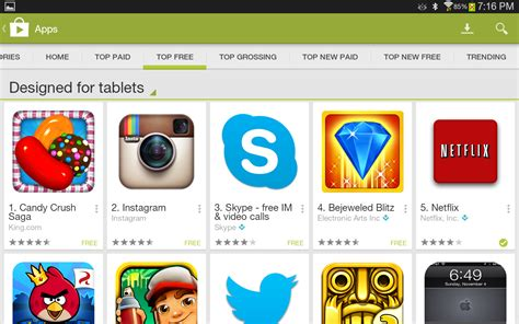 play apk free for tablet tablet apps are now highlighted in the play store and so are some non tablet apps