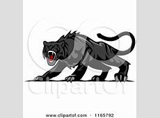 Royalty-Free (RF) Panther Clipart, Illustrations, Vector ... Growling Black Wolf With Yellow Eyes
