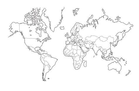 mapa del mundo en blanco y negro mapas del mundo en blanco