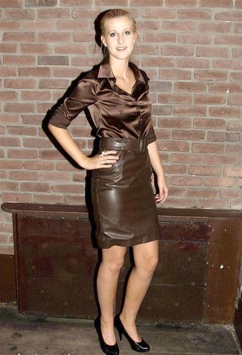 img 8453 leather skirt satin blouse photo foter