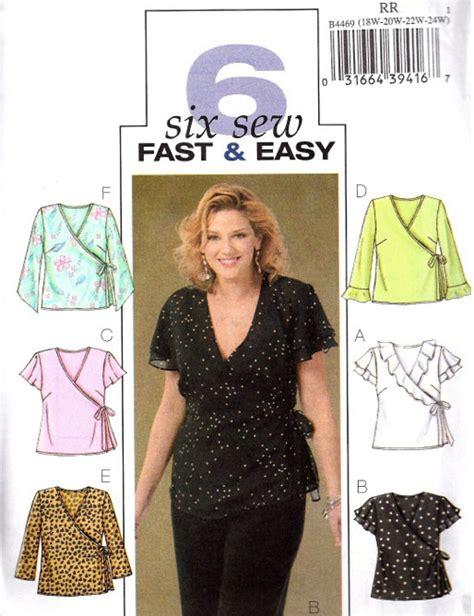 sewing pattern wrap top plus size tops sewing pattern easy women s wrap top 18w