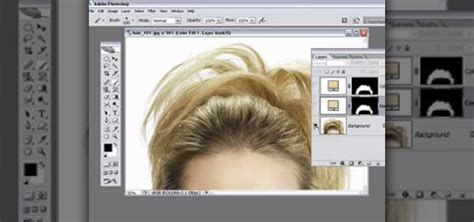photoshop cs5 tutorial remove background hair how to remove hair roots from an image in photoshop