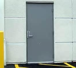Commercial metal doors exterior