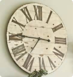 oversized wall clock from old tabletop