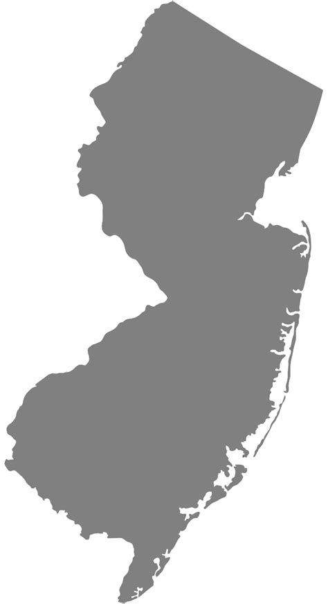 jersey map silhouette  vector silhouettes