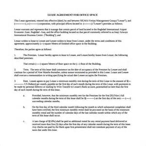 Commercial Office Lease Agreement Template sample office lease agreement 8 free documents word pdf