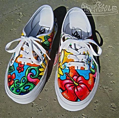 custom shoes for aloha custom painted vans authentics shoes