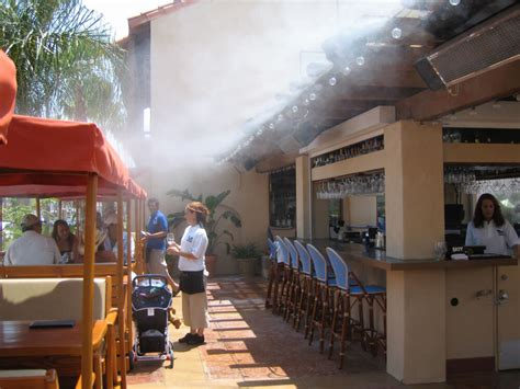 backyard misting system restaurant misting systems koolfog