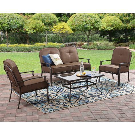 mainstays wentworth  piece metal patio furniture