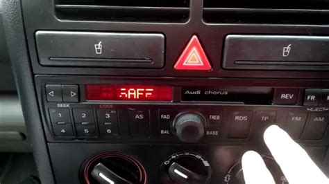 Audi A2 Radio by Audi A2 Concert Radio Safe Mode Code Problems