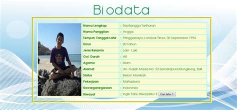 membuat html biodata sederhana tutorial membuat biodata menggunakan html dan css