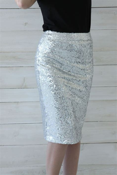best 25 sequin pencil skirt ideas on silver