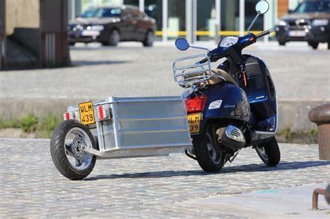 trailer  vespa scooter scooter honda elite ch