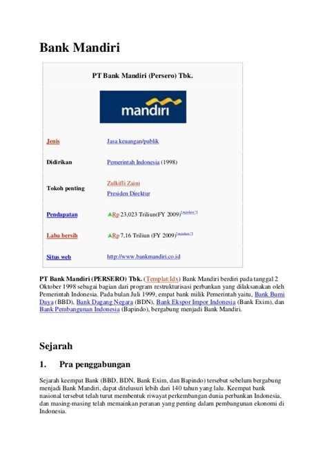 contoh surat permohonan referensi bank mandiri service
