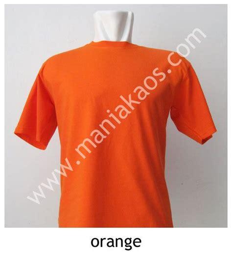 Kaos F O B kaos o neck lengan pendek orange kaos o neck lengan
