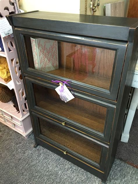 2 shelf barrister barrister bookcase painted in annie sloan graphite with