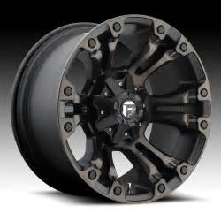 Truck Wheels Black With Fuel Vapor D569 Matte Black Machined W Tint Custom