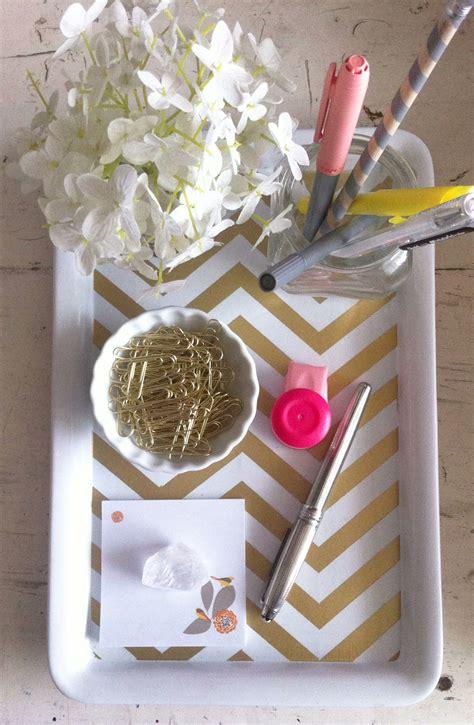 diy gold chevron desk tray kate spade office lovely
