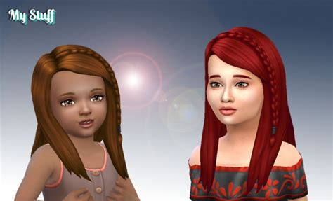 sims 4 custom content side braids long side braid conversion at my stuff 187 sims 4 updates