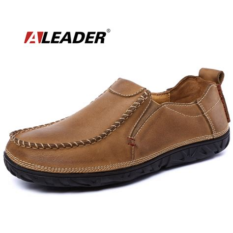 mens dress shoes for flat genuine leather mens shoes casual casual slip on loafers