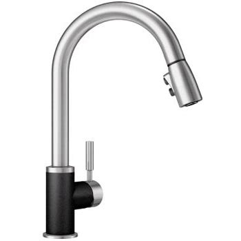 1 5 gpm kitchen faucet blanco 442055 sonoma silgranit 1 5 gpm pull kitchen