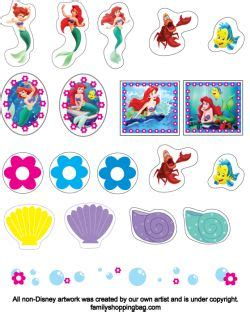 printable mermaid stickers pinterest the world s catalog of ideas