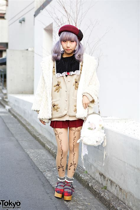 Fashion Teady 016 lilac hair in tails w dazzlin coat teddy