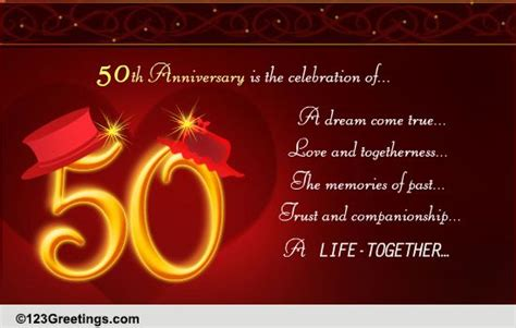 Golden Jubilee Wedding Anniversary Wishes For Parents by 50th Golden Jubilee Wedding Anniversary Wishes For Parents