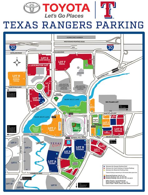 texas rangers ballpark seating map globe park parking map texas rangers