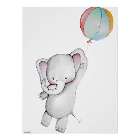 Garderobe Mit Bilderrahmen 509 by Baby Elefant Mit Ballon Kundengerechtem Plakat In 2018