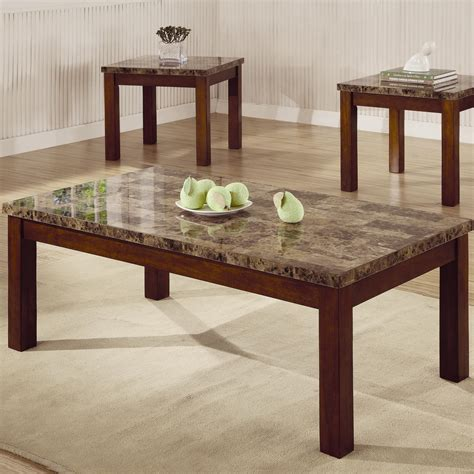 cafe 3 piece occasional set coaster occasional sets 700305 3 piece occasional