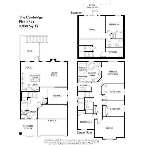 dr horton cambridge floor plan cambridge daylight b724 westridge edgewood washington