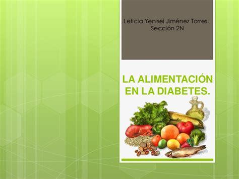 la alimentacion en la diabetes