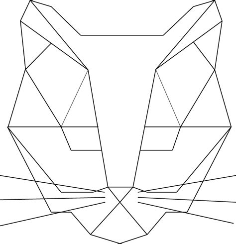 geometric cat coloring page cat geometric made illustrator cat illustration grid