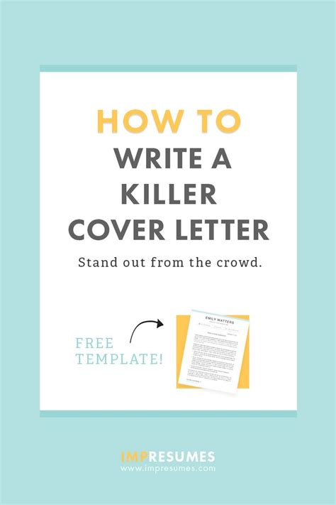 How To Write A Killer Cover Letter 25 best ideas about free cover letter on free
