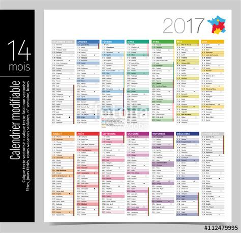 Calendrier Des Semaines 2017 Calendrier Semaines 2017
