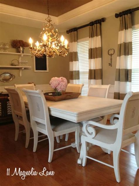 Dining Room Chairs Recovered Dining Rooms Curtains And Dining Room Tables On Pinterest