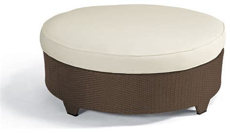 round outdoor ottoman palermo round outdoor ottoman cushion traditional