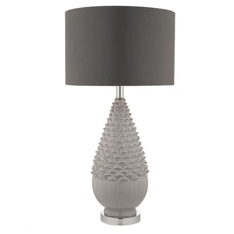 grey table l base artichoke ceramic grey table l with shade lighting