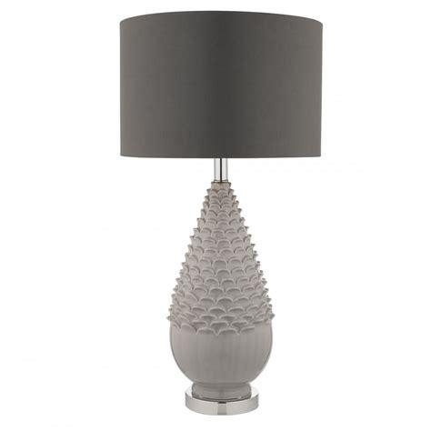 grey ceramic table l artichoke ceramic grey table l with shade lighting
