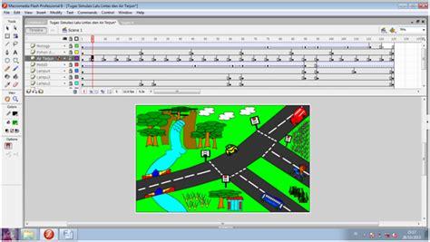 cara membuat gambar bergerak menggunakan macromedia flash 8 cara pembuatan animasi mobil berjalan pada macromedia