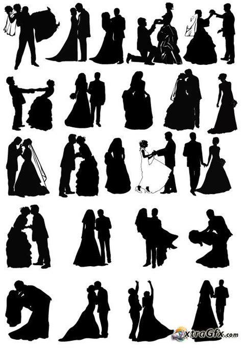 Silhouette Cameo Wedding Silhouettes Wedding Pinterest Wedding Silhouette Wedding Wedding Silhouette Template