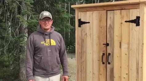 how to build a building how to build a wood smokehouse or outdoor closet youtube