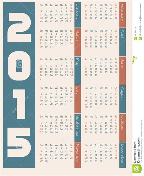 design calendar simple simple 2015 calendar design stock vector image 44790112