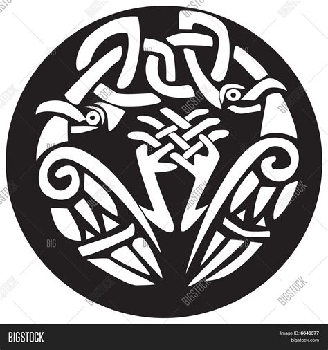 viking pattern vector celtic viking bird animal pattern vector photo bigstock