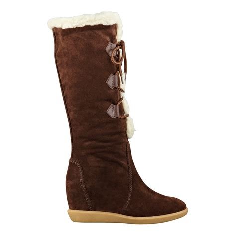 nine west gayne boot in brown brown multi suede lyst