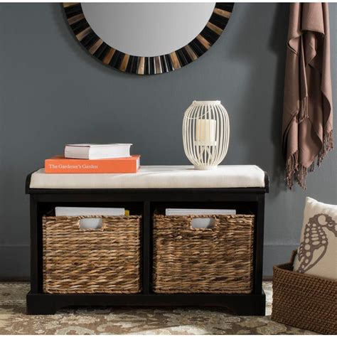 distressed wood storage bench simpli home warm shaker pine wood entryway bench in honey brown axwsh006 the home depot