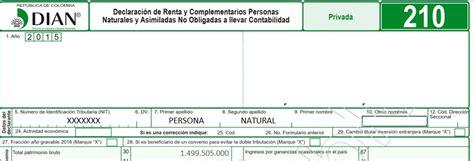 personas naturales vctos renta 2016 declarantes de renta 2016 personas naturales colombia