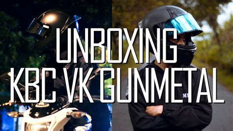 Helm Kbc Vk Gunmetal Helm Paling Keren Tapi Tetap Pas Dikantong Unboxing Kbc